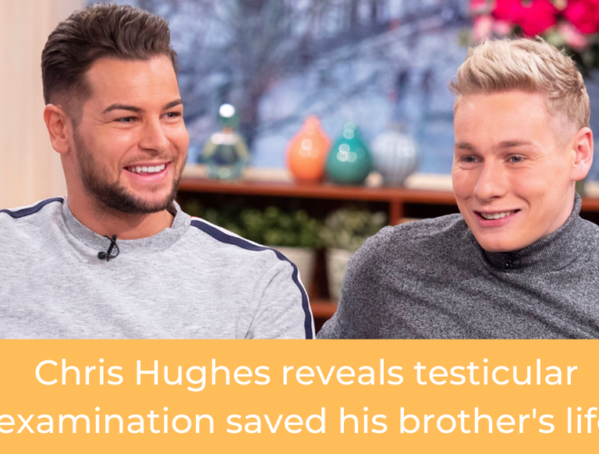 Chris Hughes reveals testicular examination saved his brothers life FB